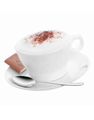 Taza cappuccino 15cl. con plato y cuchara.