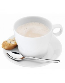Taza café con leche 22cl. con plato y cuchara