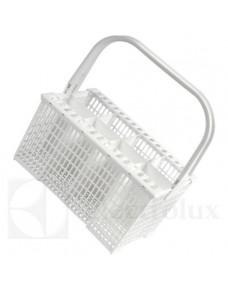 Cesto de cubiertos para lavavajillas, blanco